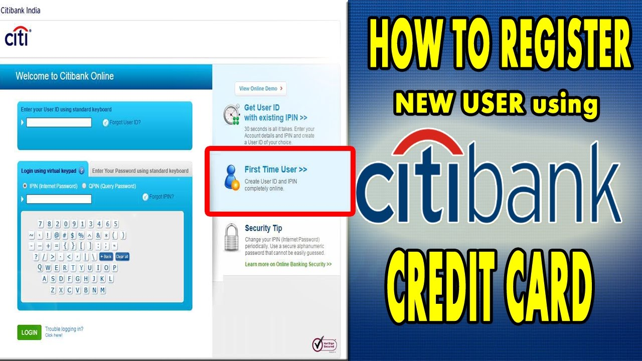 How To Register Citi Bank Creditcard Login Citi Bank Digital