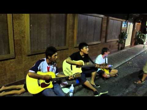 Тайские гитаристы , Паттайя , уолкин стрит , сектор газа \