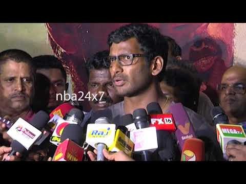I'm ready to face, if this raid is Politically motivated:Vishal | GST Raid at Vishal Office| nba24x7