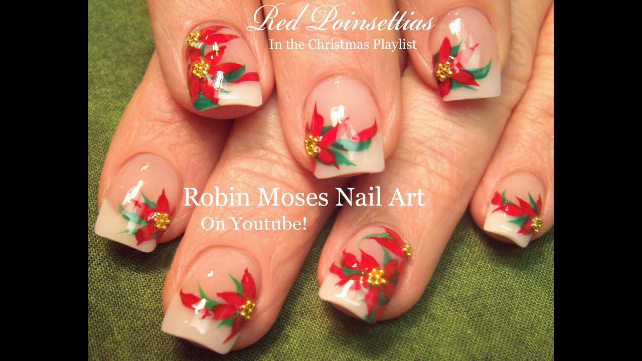 Easy christmas nail art design xmas poinsettia flower nails easy christmas nail art design xmas poinsettia flower nails tutorial prinsesfo Choice Image