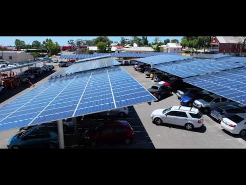 Perdaman Advanced Energy - Northam Boulevard Solar Car Park Time Lapse