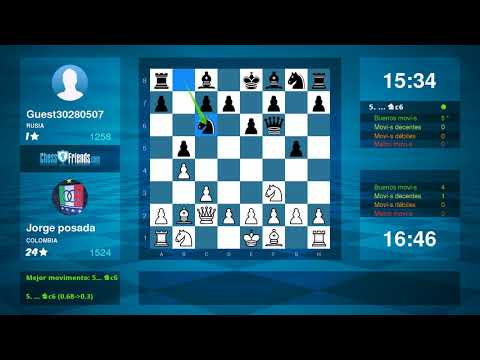 Chess Game Analysis: Jorge posada - Guest30280507 : 1-0 (By ChessFriends.com)