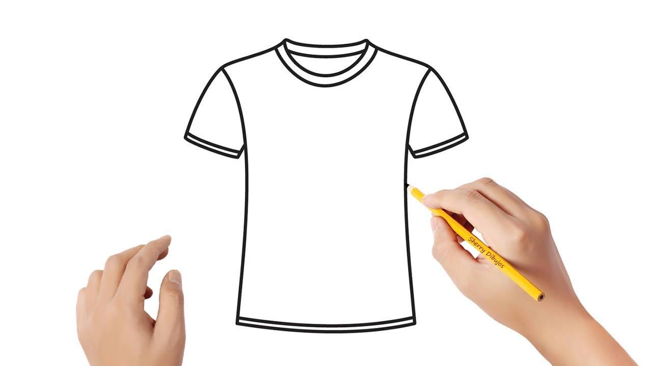 Como Dibujar Una Camiseta Dibujos Sencillos Youtube