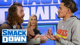 Trae Young walks out on Sami Zayn: SmackDown Exclusive, Sept. 10, 2021