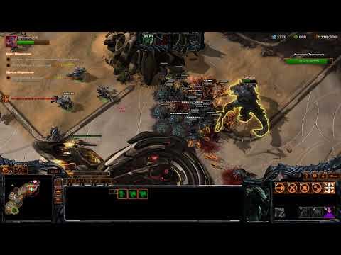 Starcraft 2 Co-op Mission lv 95 Ascension Dehaka gameplay