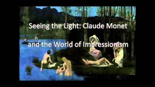 HOW ARTISTS SEE - Monet (Lecture 1 of 5) Prof Ian Aaronson