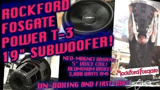 UNBOXING A ROCKFORD FOSGATE POWER T3 19