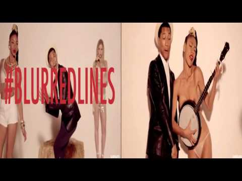 Blurred Line Thicke comparaison  unrated vs censured2