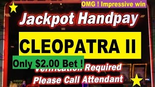★HAND PAY !Sweet Jackpot ★ ☆Cleopatra II Slot machine (igt)/ Cosmopolitan Las Vegas☆$2.00 Max Bet