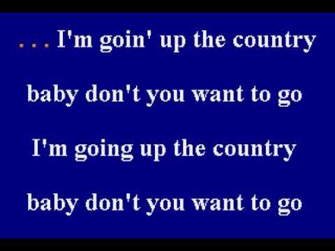 Canned Heat - Goin' Up To The Country - Karaoke