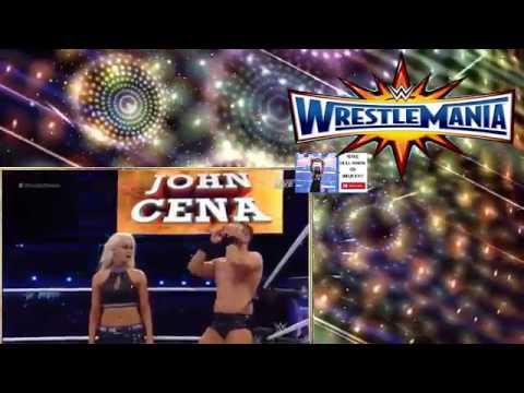 John Cena  Nikki Bella vs The Miz  Maryse  Wrestlemania 33  FULL MATCH