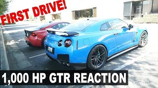 his first time driving a 1 000 hp gtr