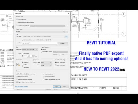Revit Tutorial - Finally! Native PDF Export. New for Revit 2022