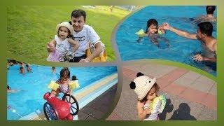 Swimming song with Alma ¦ ألمى في المسبح ¦ kids videos