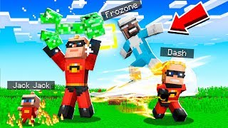 Playing MINECRAFT As THE INCREDIBLES!