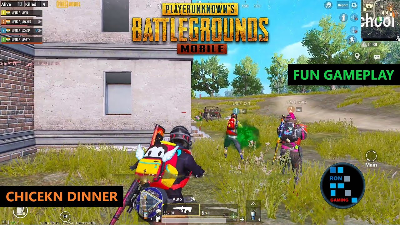 PUBG MOBILE | FUN GAMEPLAY DROP HUNTING CHICKEN DINNER