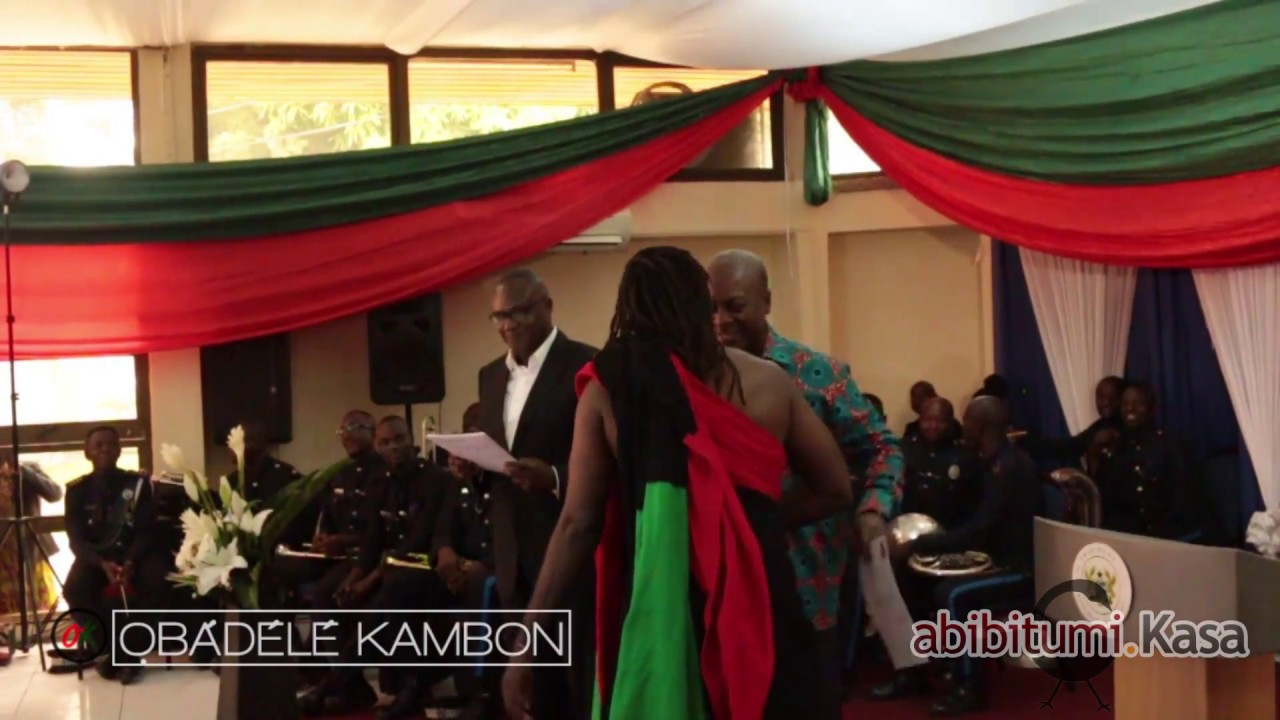 Obadele Kambon's Swearing-In as a Ghanaian Citizen with President Mahama!!!