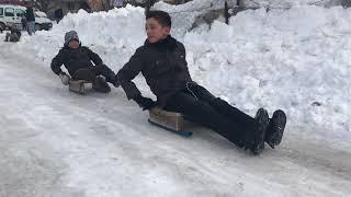 Bingöl Elmalı köyü kayak keyfi
