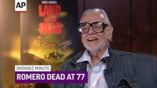"Romero's classic ""Night of the Living Dead"" and other horror films turned zombie movies into social commentaries and who saw his flesh-devouring undead spawn countless imitators, remakes and homages. (The Associated Press)"