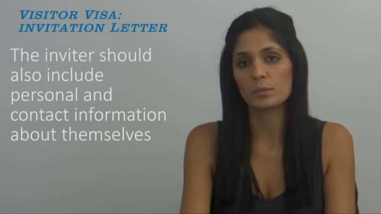 Visitor Visa Invitation Letter Youtube