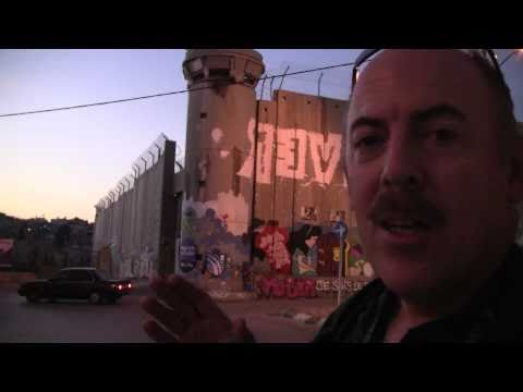Visiting the West Bank Barrier Wall, Bethlehem Palestine (Video #23)