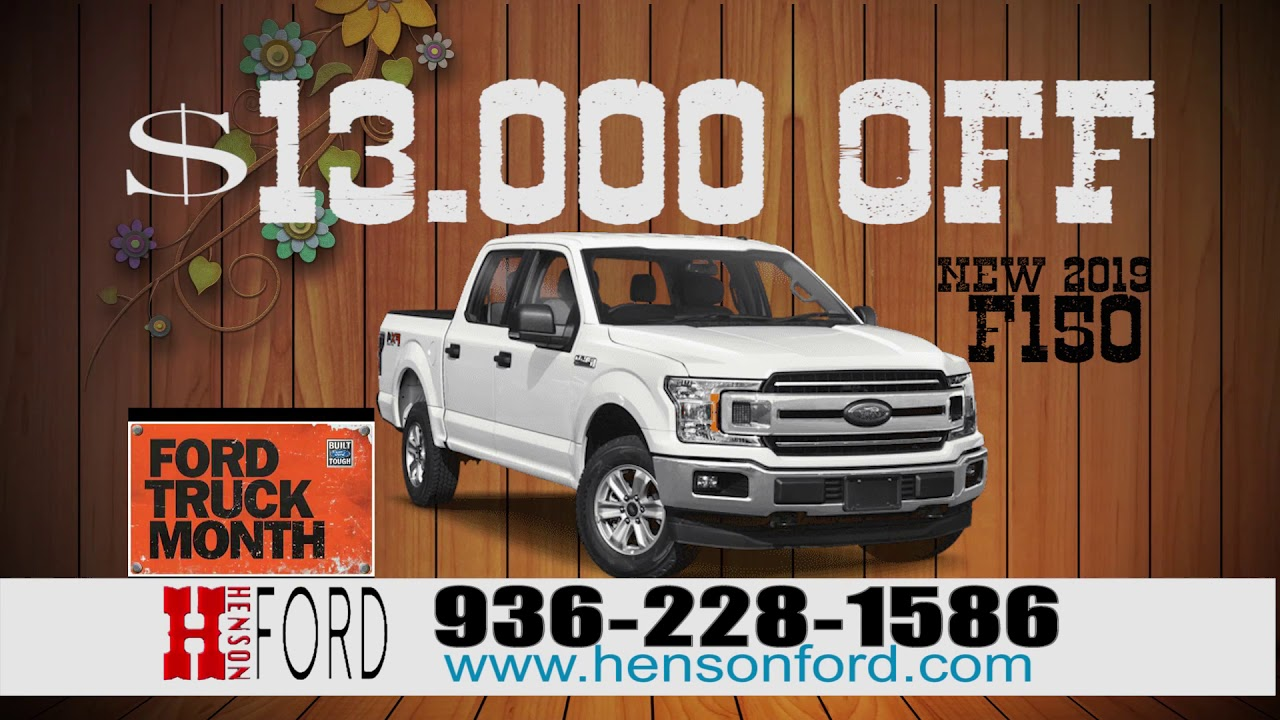 Henson Ford Madisonville Tx >> Henson Ford Truck Month Is Now Youtube