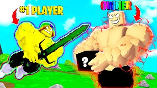 I got ADMIN LEVELS to FIGHT the OWNER to get OWNER ONLY ITEMS.. (Roblox)