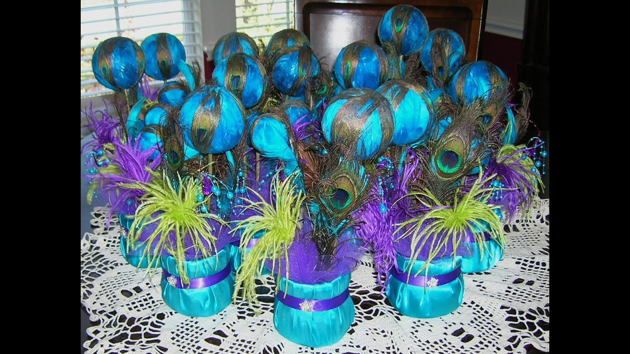 Diy wedding elegant peacock decorations ideas youtube junglespirit Gallery
