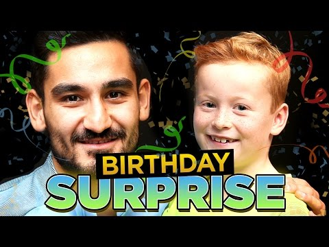 BRAYDON SURPRISES GUNDOGAN WITH CAKE!