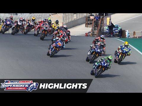 HONOS Superbike Race 3 Highlights at Laguna Seca 2020