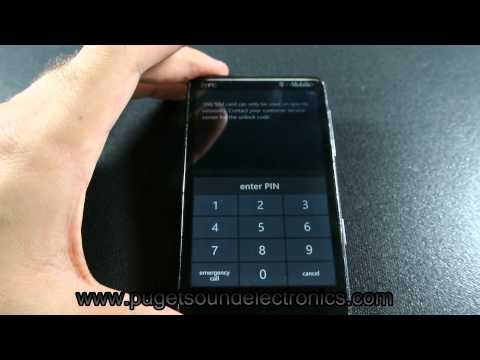 How to unlock T Mobile HTC HD7