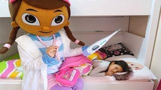 Masal Hasta Oldu Doc McStuffins Yardıma Yetişti! Masal Pretend Play Sick fun play for kids video