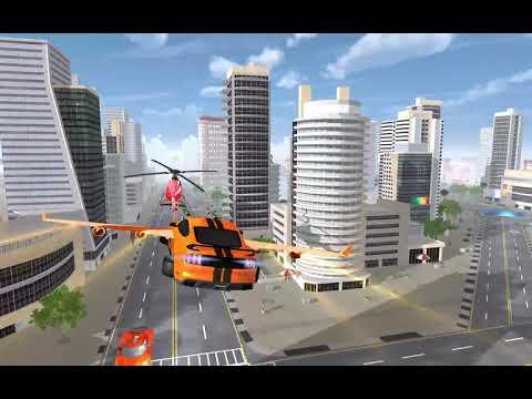 Flying Robot Car Transform - Robot Shooting Games