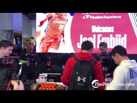 Joel Embiid Works Register At NBA Store