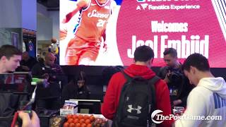 Joel Embiid Works Register At NBA Store