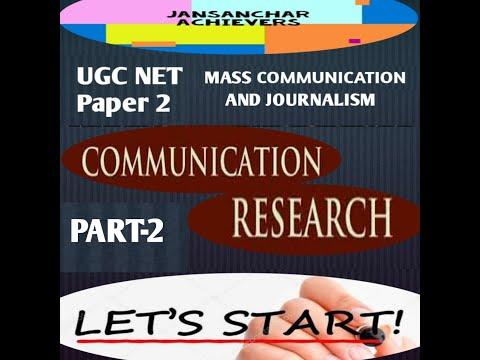 QUANTITATIVE RESEARCH - COMMUNICATION RESEARCH UNIT 10 / UGC NET / MASS COMMUNICATION