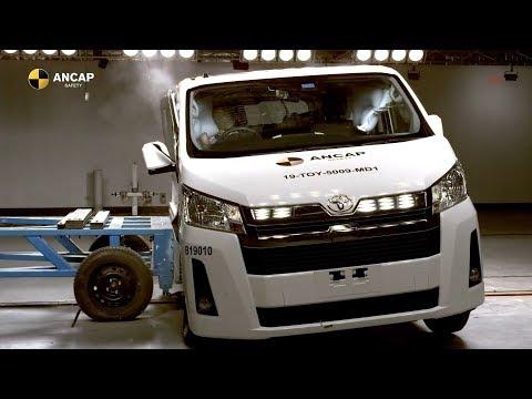 Toyota HiAce Crash Test ANCAP (Safety Rating ★★★★★)
