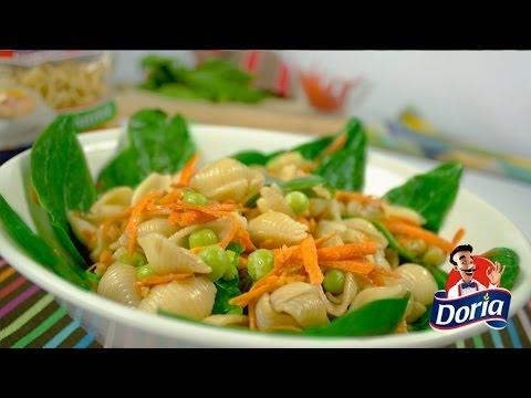 Ensalada con pasta: Espinacas y Conchitas Doria