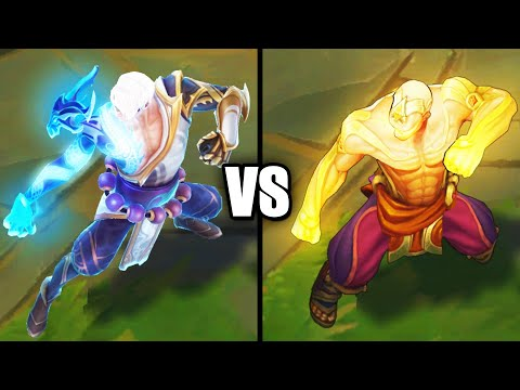 Storm Dragon Lee Sin vs God Fist Lee Sin Legendary Skins Comparison (League of Legends)