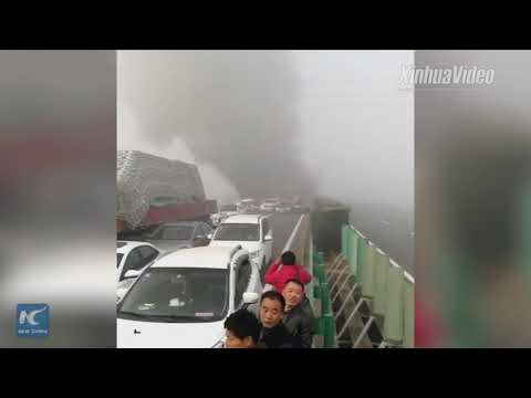 At least 18 people dead in expressway pile-up in Anhui, China