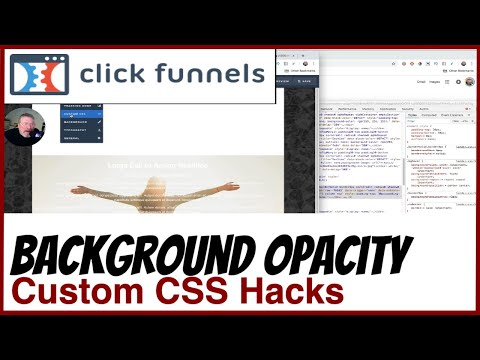 Clickfunnels How To Change The Background Opacity Of A Section Nh L Youtube