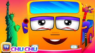Repeat youtube video Wheels On The Bus | New York City | Popular Nursery Rhyme by ChuChu TV