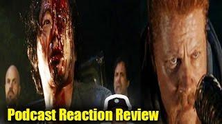The Walking Dead Season 7 Episode 1 REACTION REVIEW Negan Kills Abraham,Glenn -Glenn, Abrahams Death