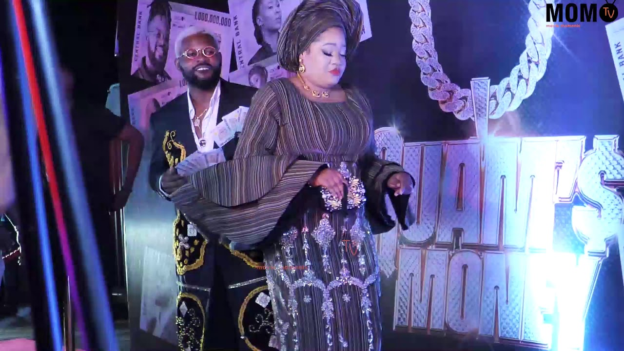 Download Toyin Abraham And Falz Shows Off Their Dance Steps At Quams Money Premier