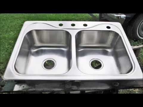 Cleaning  Stainless Steel Kitchen Sink