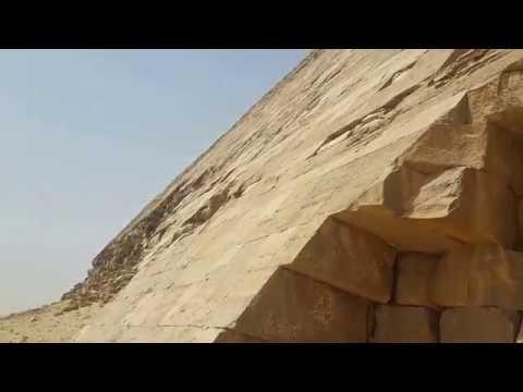Bent Pyramid perfectly cut stones. Dashur, Egypt. April 2016