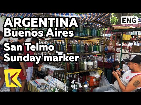 【K】Argentina Travel-Buenos Aires[아르헨티나 여행-부에노스아이레스]산텔모 지구 일요시장/San Telmo/Sunday market