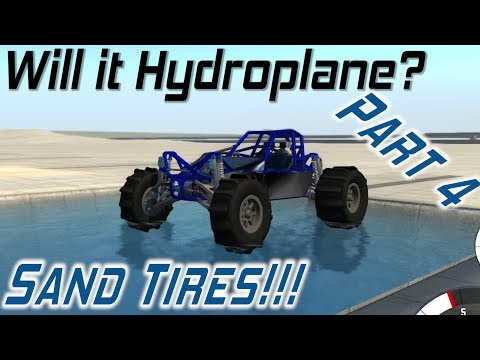 BeamNG.drive - Will it Hydroplane? - Sand...