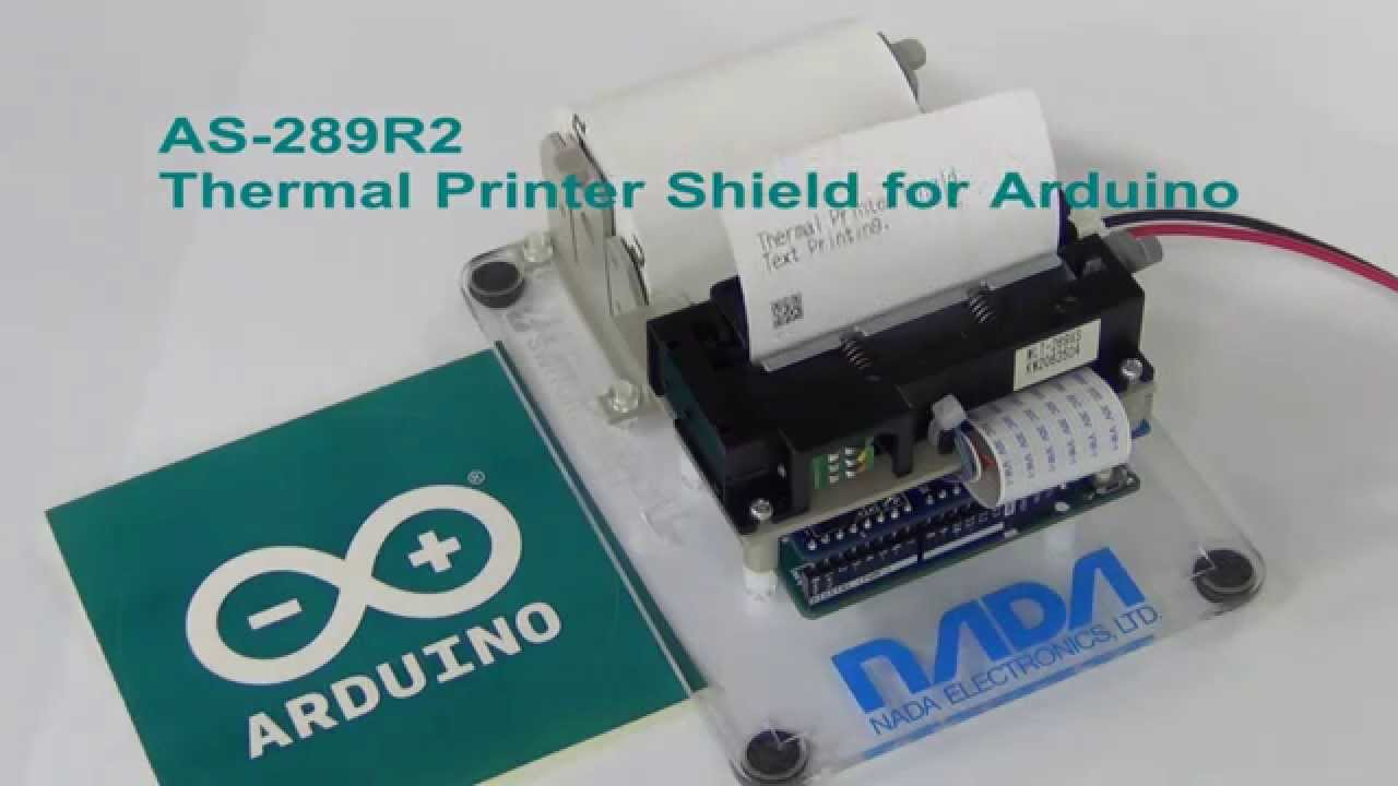 As r thermal printer shield for arduino youtube