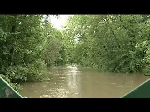 Clinton River flooding park in Sterling Heights